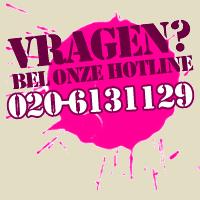 Vragen? Bel onze hotline op 020-6131129